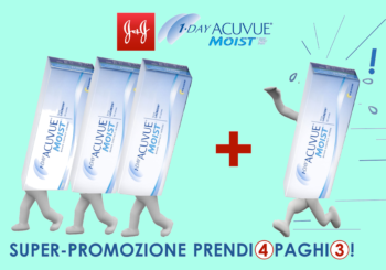Continua la promozione Lac disposable Johnson&Johnson 1Day Acuvue Moist