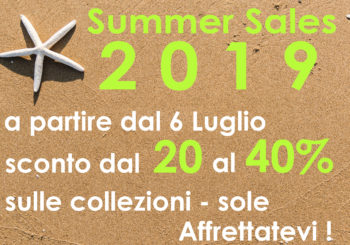 Saldi Sole Estate 2019
